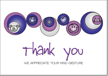 Petite Prints - Purple Thank You Card