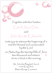 PInk Circles Save the Date Card