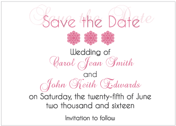 Pink Gradient Save the Date