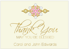 Pink Jewels II Thank You Card