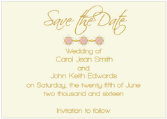 Pink Jewels II Save the Date Card
