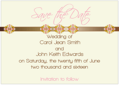 Pink Jewels III Save the Date Card
