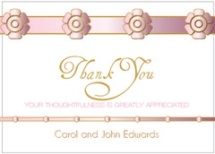 Pink Petal Thank You Card