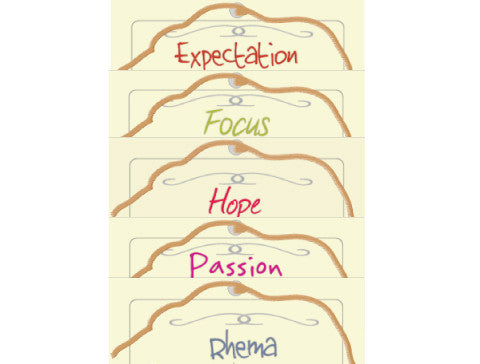 Post Card Collection III: Expectation, Focus, Hope, Passion, Rhema