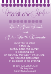 Purple Gradient Invitation