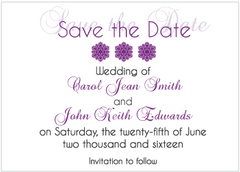 Purple Gradient Save the Date