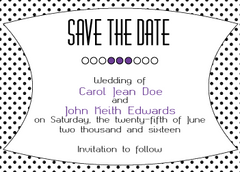 Purple Polka Dot Invitation