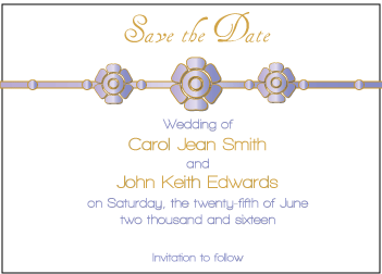 Purple Petal Save the Date Card