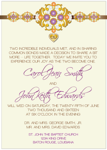 Purple Jewels III Invitation