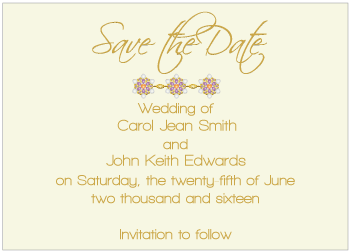 Purple Jewels II Save the Date Card