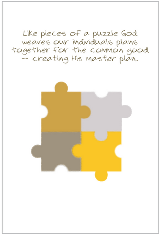 Pieces of a Puzzle Greeting Card