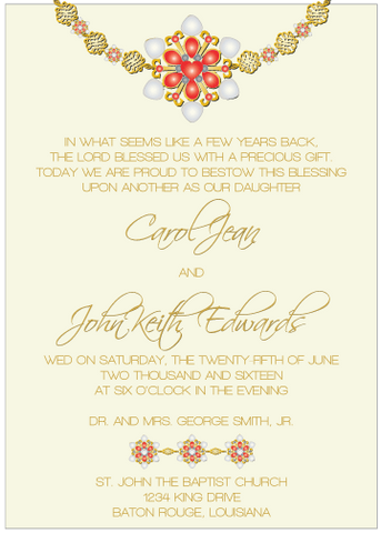 Red Jewels II Invitation