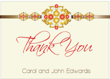 Red Jewels III Thank You Card