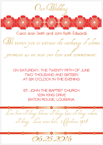 Red Petal Invitation