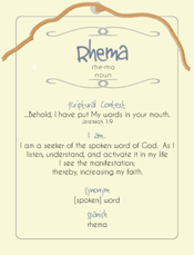 Rhema Post Card
