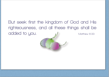 Seek First the Kingdom Note Card