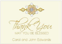 Tan and Black Jewels II Thank You Card
