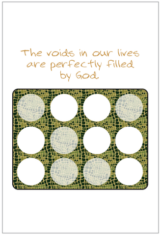 Voids in Our Lives Greeting Cards
