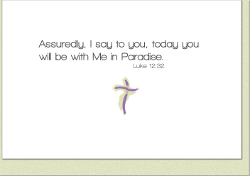 With Me In Paradise Service Note Cards (3-Card Pack)
