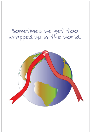 Wrapped Up in the World Greeting Card