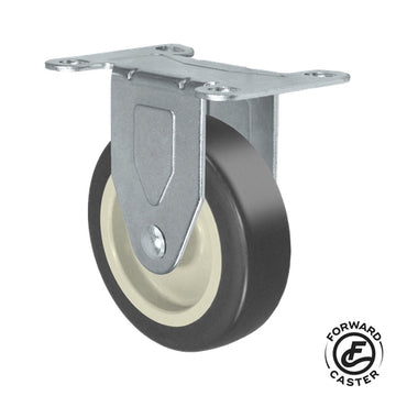 "5"" Gray Rubbermaid Cart Rigid Caster"