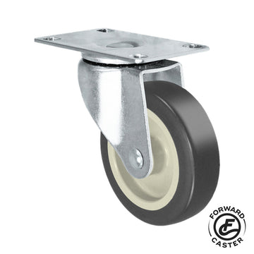 "5"" Gray Rubbermaid Cart Swivel Caster"