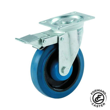 "4"" Elastic Rubber Swivel Caster"