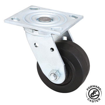 "4"" Mold-On Rubber Swivel Caster"