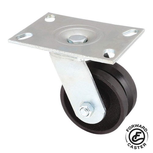 "4"" Cast Iron V-Groove Swivel Caster"