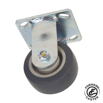"4"" Gray Rubber Rigid Caster"
