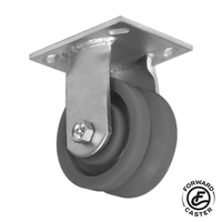 "4"" Cast Iron V-Groove Rigid Caster"