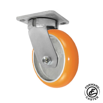 "5"" Polyurethane on Aluminum Kingpinless Swivel Caster"