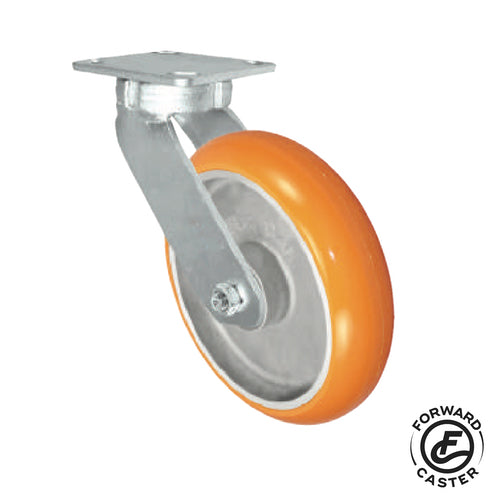 "8"" Polyurethane on Aluminum Kingpinless Swivel Caster"