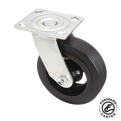 "6"" Mold-On Rubber Swivel Caster"