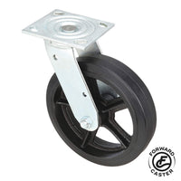 "8"" Mold-On Rubber Swivel Caster"