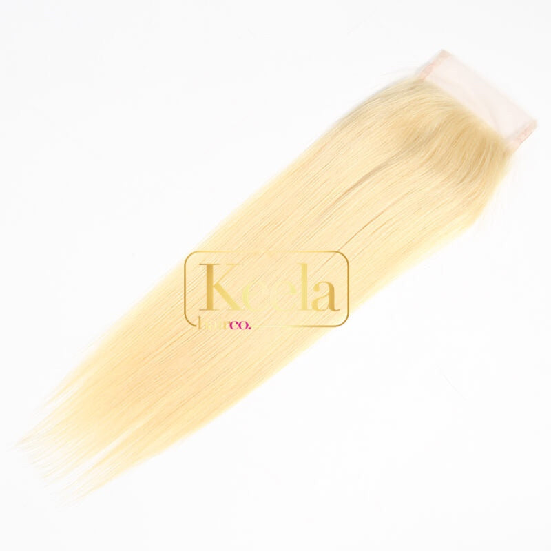 Hd straight blonde lace closure (Raw cambodian)