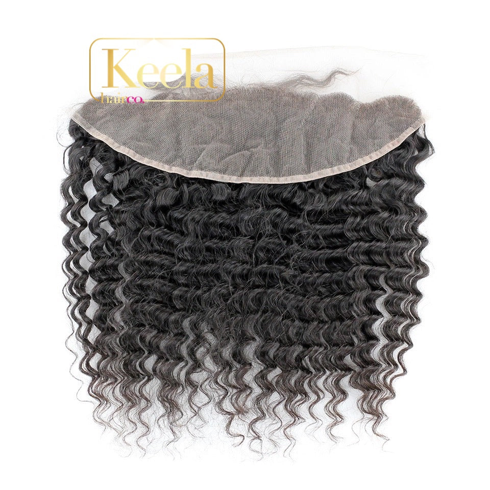 Hd Deep curl lace frontal ( Raw Cambodian)