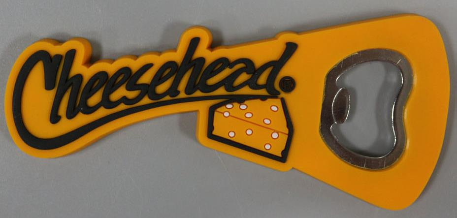 Cheesehead PVC Bottle Opener