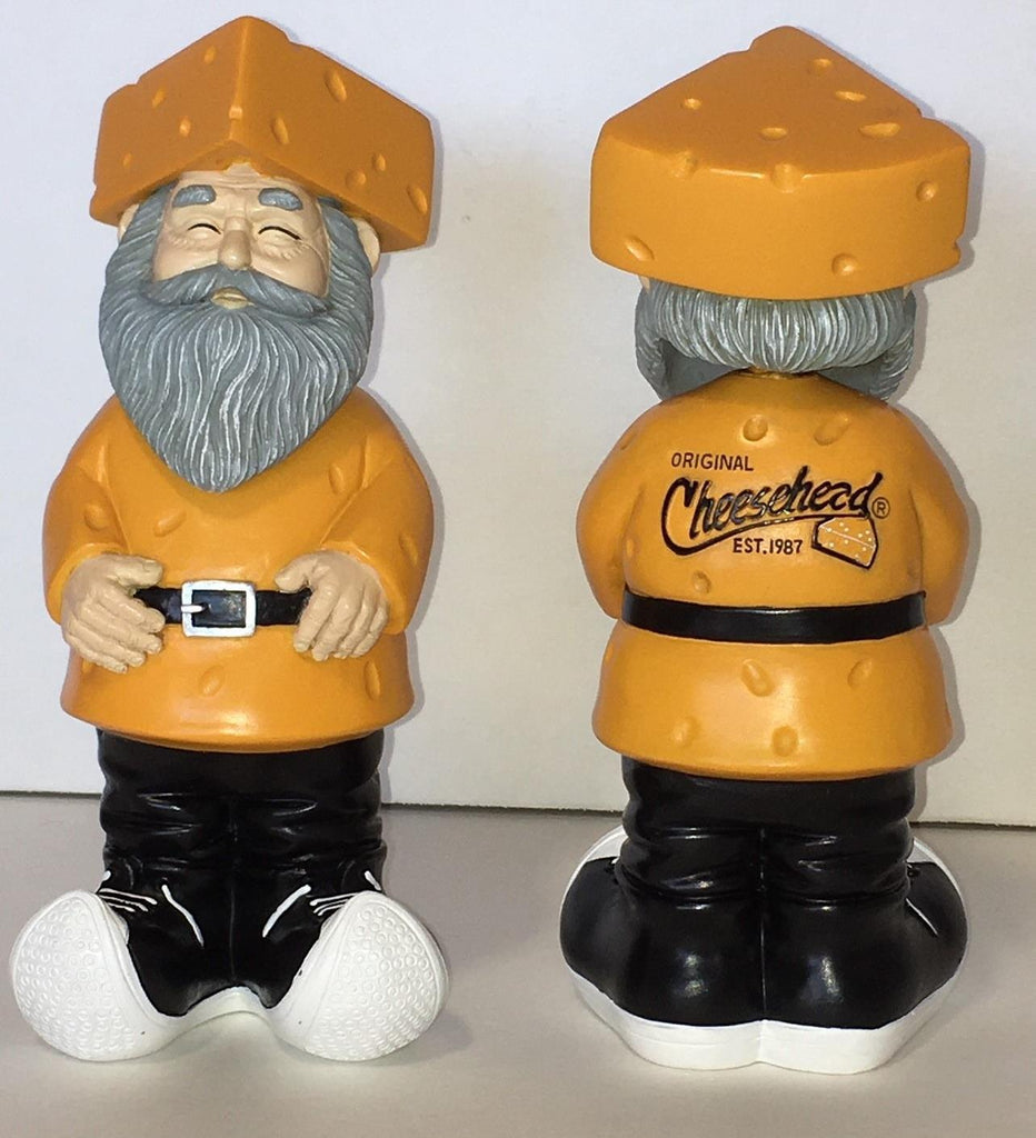 Garden Gnome Cheesehead Bobble Head