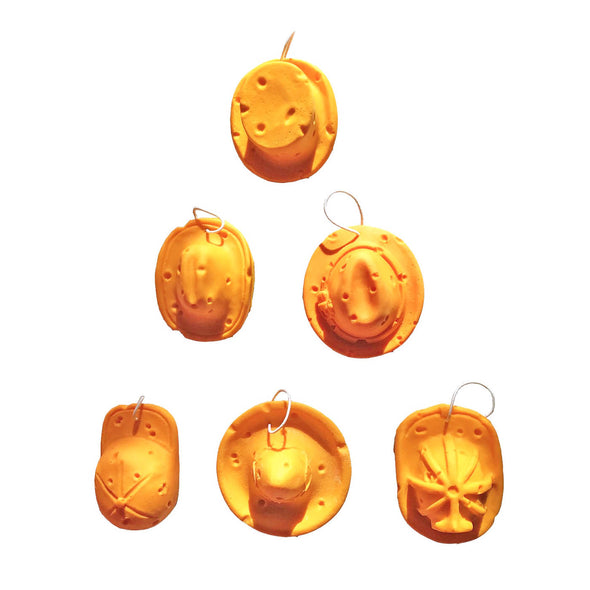 Hat Ornaments (6-pk)