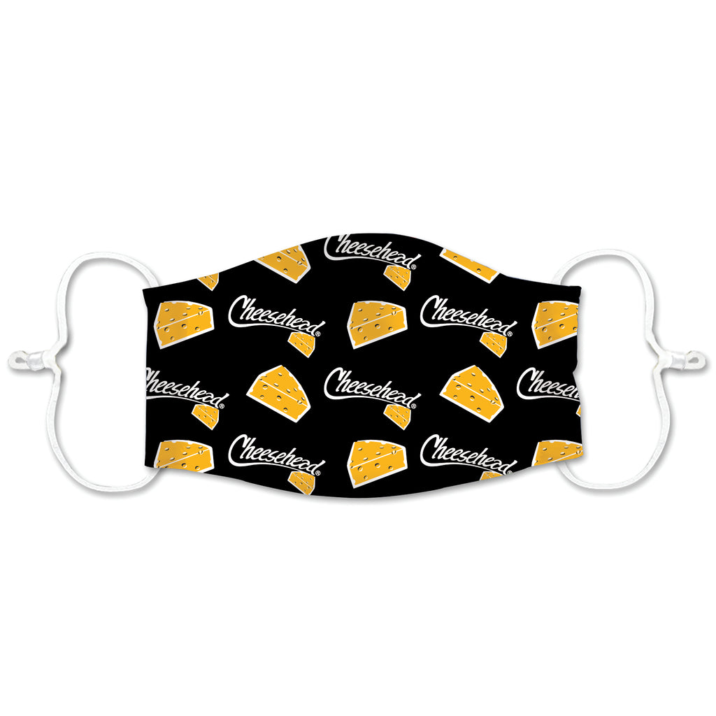 Cheesehead Face Masks - Cheese Pattern
