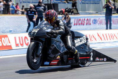 Eddie Krawiec sets new NHRA Pro Stock Motorcycle national speed record