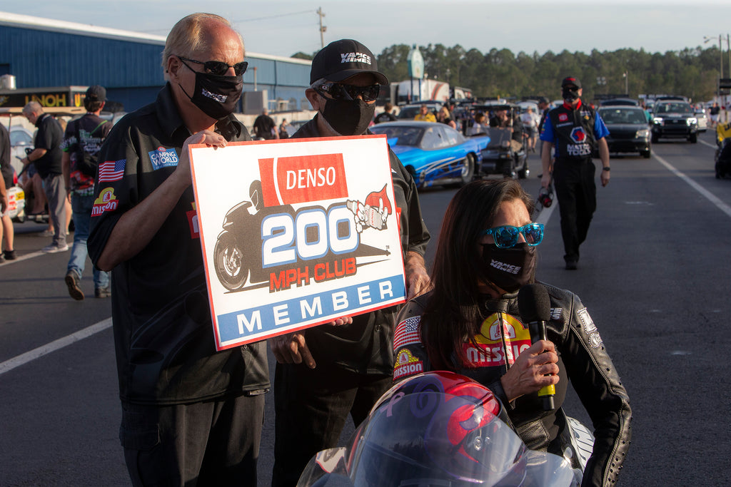 Angelle Sampey joins 200 mph club