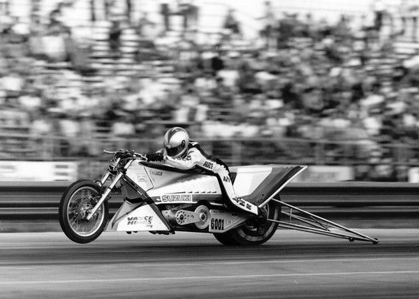 In 1984, Vance recorded the first six-second pass in Top Fuel Motorcycle
