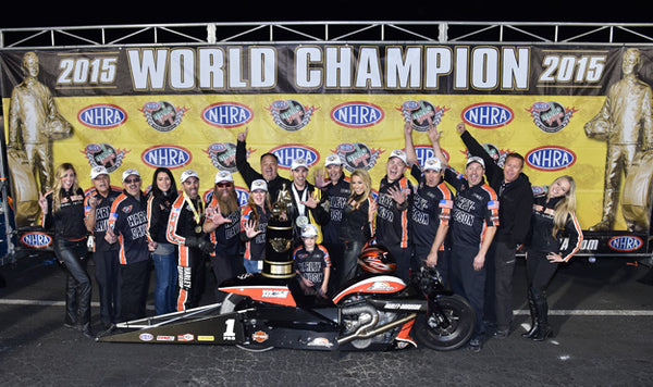 NHRA Mello Yello Drag Racing Series Pro Stock Motorcycle world championship in 2015