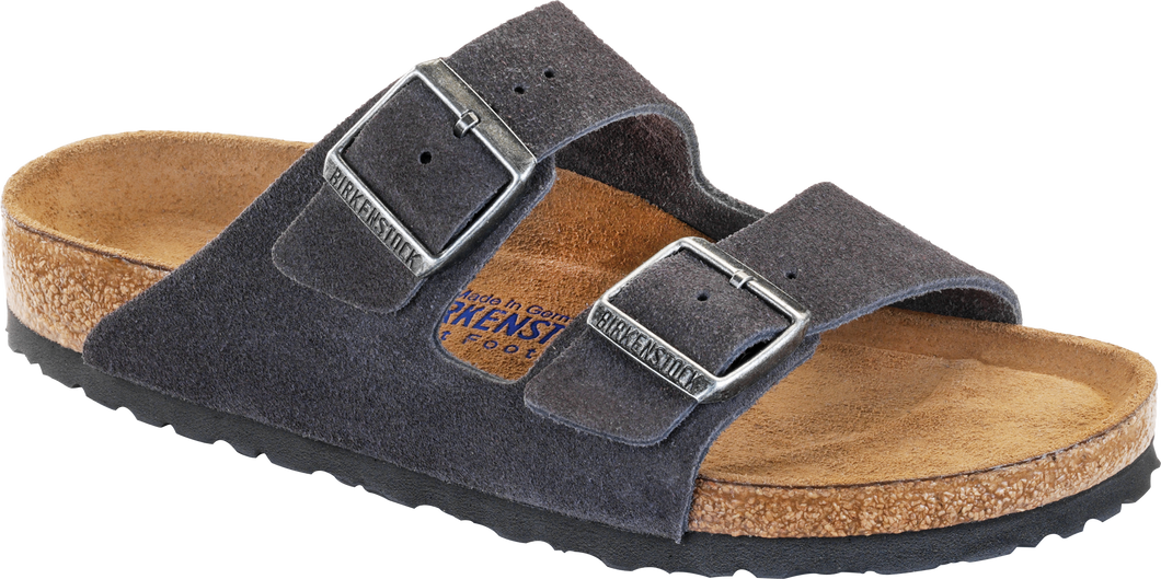 Arizona Soft Footbed Velvet Grey Suede