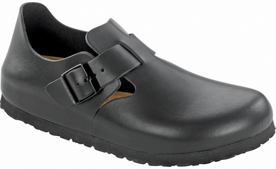 London Soft Footbed Black Leather