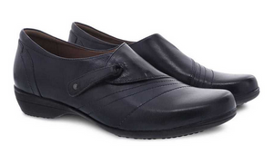 Franny Navy Burnished Calf