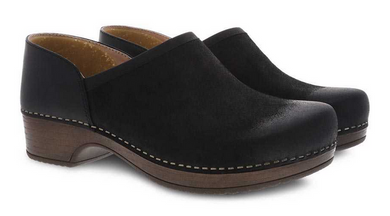 Brenna Black Burnished Suede