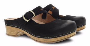 Britney Black Burnished Nubuck